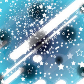 White Stars With White Lines In Blue Vector - vector gratuit #207325