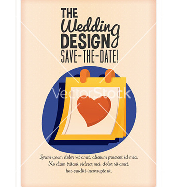 Free wedding day design vector - vector gratuit #207435