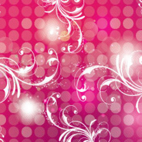 Pink Art Background With Swirls Design - vector #207535 gratis