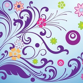Blooming Spring Card - vector gratuit #207575