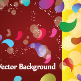 Colored Designs In Brown Yellow Background - Kostenloses vector #207605