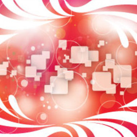 Abstract Designs In Red Squars Background - Free vector #207635