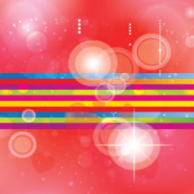 Lined Colored Art In Red Transprent Vector - Free vector #207695