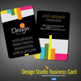 Design Studio Business Card - vector #207725 gratis
