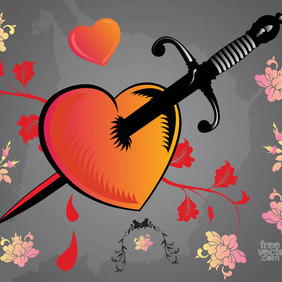 Bleeding Heart - vector gratuit #207765