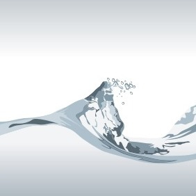 Water Wave With Bubbles - vector gratuit #207785