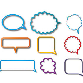 Speech Bubbles Vector Set - vector gratuit #207855