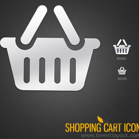 Shopping Cart Icon - vector gratuit #207875
