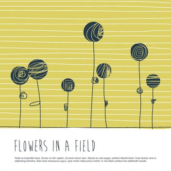 Flowers In A Field - vector gratuit #207935