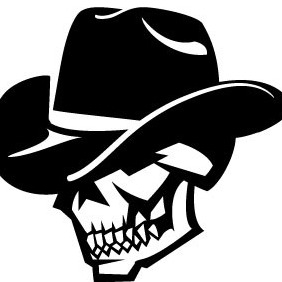 Skull With Hat Vector VP - Free vector #208005