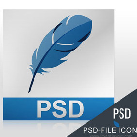 PSD-File Icon - vector gratuit #208175