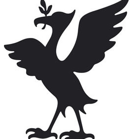 Liver Bird Silhouette - Free vector #208205