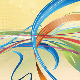 Ribbon Party - Free vector #208245