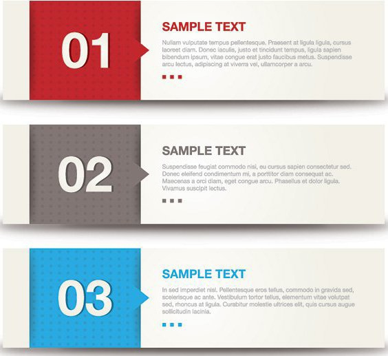 Banner Samples - vector gratuit #208295