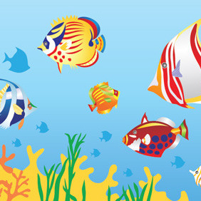 Underwater Illustration - Free vector #208315