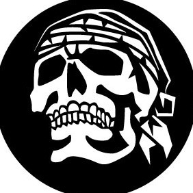 Skull With Headscarf Vector Clip Art - vector gratuit #208425