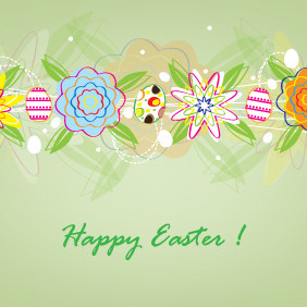 Sweet Easter Card Design - Kostenloses vector #208515