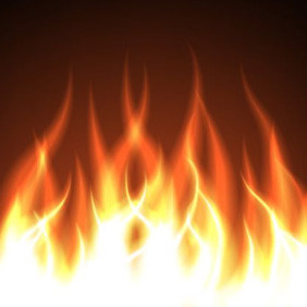 Burning Flames - Free vector #208575