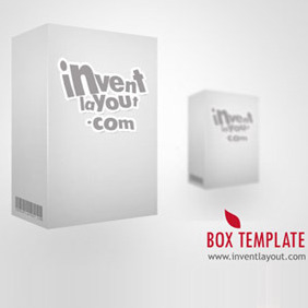3D Box Template PSD - vector #208625 gratis
