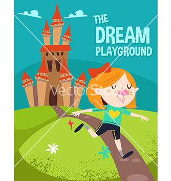 Free cartoon dream playground vector - vector gratuit #208635