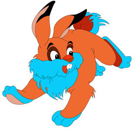 Rabbit Cartoon Character- Free Vector. - vector gratuit #208655
