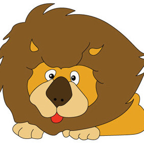 Lion Cartoon Character- Free Vector. - Kostenloses vector #208675