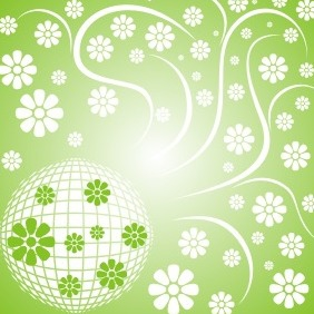Floral Disco Ball - vector #208875 gratis