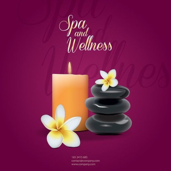 Spa and Wellness - vector #208975 gratis