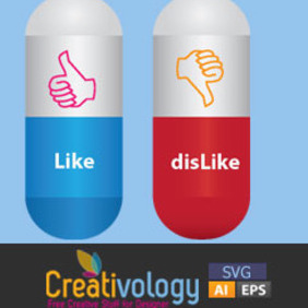 Like Dislike Capsule Pills - Free vector #209015