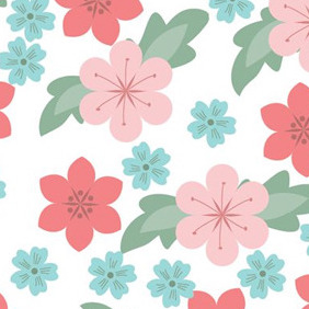 Seamless Flowers Pattern - vector gratuit #209065