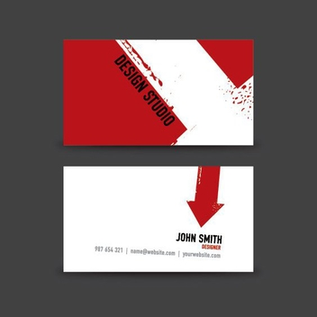Business Card Design - vector gratuit #209165