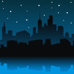 City Night - vector gratuit #209275