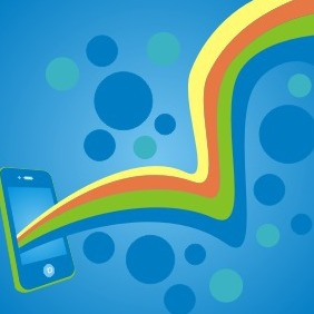 Mobile With Color Lines - Free vector #209315