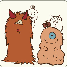 Vector Cute Monsters 2 - vector gratuit #209325