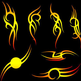 Tribal Vectors By Vectorvaco.com - Free vector #209355