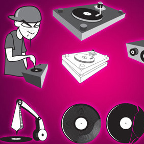 Dj Vector Set By Vectorvaco.com - vector gratuit #209365