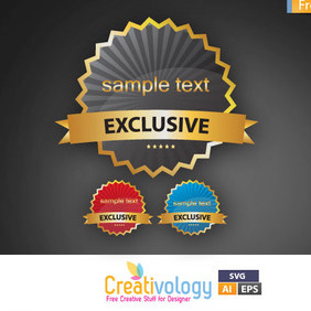 Vector Exclusive Tag - Kostenloses vector #209375