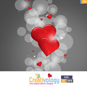 Free Vector Hearts Wallpaper - бесплатный vector #209385