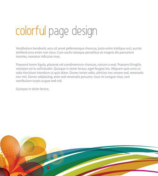 Conception de Page colorée - vector gratuit #209655