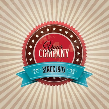 Vintage Company Badge - Free vector #209685