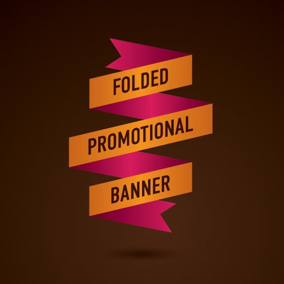 Folded Promotional Banner - Free vector #209715