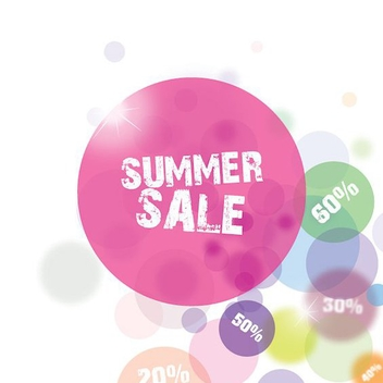 Summer Sale Circles - vector gratuit #209725