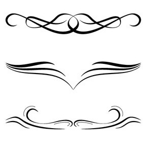 Free Calligraphic Ornaments - Free vector #209775