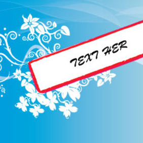 Floral Banner In Blue Vector Art - vector gratuit #209815