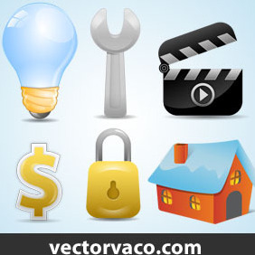 Web Icons Vector By Vectorvaco.com - Kostenloses vector #209895
