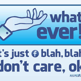 Facebook Whatever Button - Free vector #210005