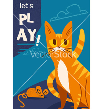 Free cartoon cat design vector - vector #210015 gratis