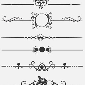 Calligraphic Dividers - Free vector #210045