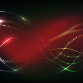 Red Glow Wavy Background - vector gratuit #210085
