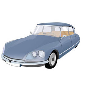 Iconic French Car -Citroen DS - vector gratuit #210185